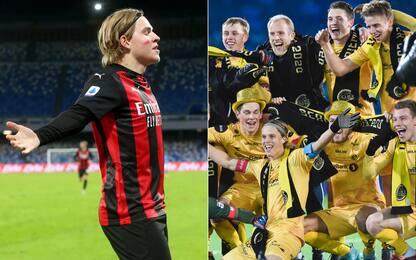 Hauge, gol in A e titolo norvegese. In una sera