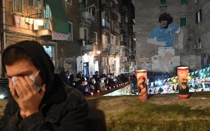 L'omaggio di Napoli a Maradona. FOTO