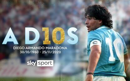 AD10S Diego, la programmazione dedicata a Maradona