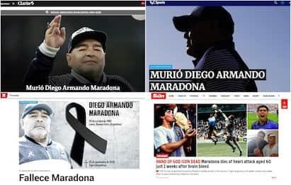 Maradona, la notizia sui siti di tutto il mondo