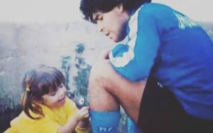 """Dalma a papà Maradona: """"Ti difenderò per sempre"""""""