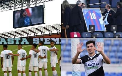 Eterno Maradona, quanti omaggi dal calcio mondiale