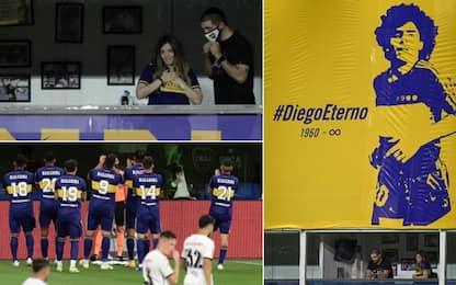 La Bombonera piange Maradona: l'omaggio del Boca