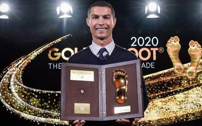 Ronaldo riceve il Golden Foot 2020: l'albo d'oro