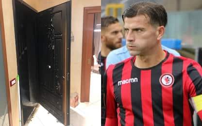 Incendiata porta di casa del capitano del Foggia