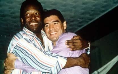 """Pelé a Maradona: """"Mai detto, ma ti voglio bene"""""""