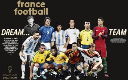 Dream Team France Football: ci sono CR7 e Maldini