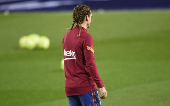 Antoine Griezmann of FC Barcelona during the La Liga match between FC Barcelona and Real Sociedad played at Camp Nou Stadium on December 19, 2020 in Barcelona, Spain. (Photo by PRESSINPHOTO)