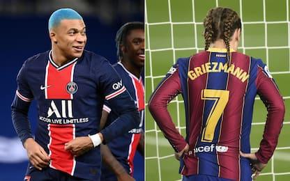 Tinta blu e treccine, che look Mbappé e Griezmann!