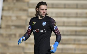 Genk's goalkeeper Maarten Vandevoordt pictured during a friendly soccer match between KRC Genk and German club FC Koln, during their winter training camps, Friday 10 January 2020 in Benidorm, Spain. BELGA PHOTO YORICK JANSENS (Photo by YORICK JANSENS/BELGA MAG/AFP via Getty Images)