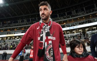 TOKYO, JAPAN - JANUARY 01: David Villa of Vissel Kobe looks on after  the 99th Emperor's Cup final between Vissel Kobe and Kashima Antlers at the National Stadium on January 01, 2020 in Tokyo, Japan. (Photo by Hiroki Watanabe/Getty Images)
