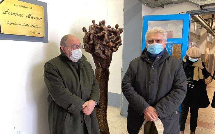 Bruno Mazzia (a destra), padre di Lorenzo