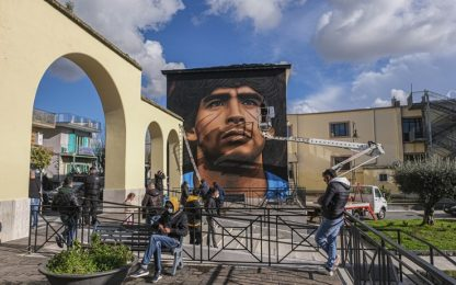 Jorit per Maradona, nuovo murales a Quarto. FOTO