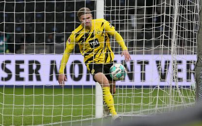 25 gol nei campionati top, Haaland il più veloce