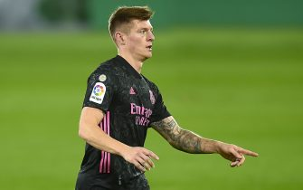 Toni Kroos of Real Madrid during the La Liga match between Elche CF and Real Madrid played at Martinez Valero Stadium on December 30, 2020 in Elche, Spain. (Photo by PRESSINPHOTO)
