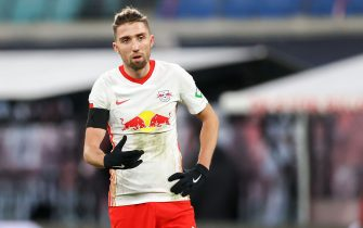 19 December 2020, Saxony, Leipzig: Football: Bundesliga, Matchday 13, RB Leipzig - 1. FC Köln at Red Bull Arena Leipzig. Leipzig's player Kevin Kampl. Photo: Jan Woitas/dpa-Zentralbild/dpa - IMPORTANT NOTE: In accordance with the regulations of the DFL Deutsche Fußball Liga and/or the DFB Deutscher Fußball-Bund, it is prohibited to use or have used photographs taken in the stadium and/or of the match in the form of sequence pictures and/or video-like photo series.