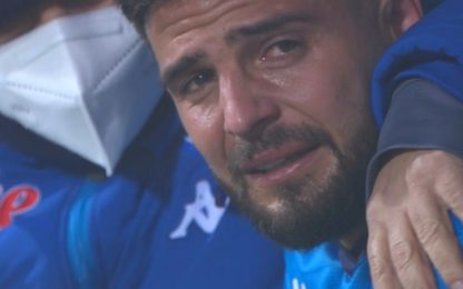 Insigne in lacrime, 3° rigore fallito con la Juve