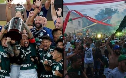 Santos ko, Palmeiras è campione: tifosi in delirio