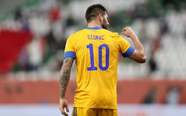 Gignac esulta dopo il gol - ph. @TigresOficial