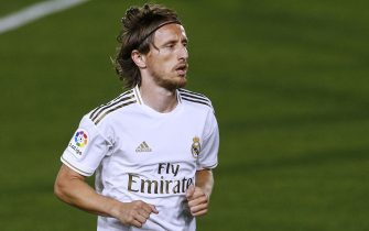 Luka Modric of Real Madrid during the La Liga match between Real Madrid and RCD Mallorca played at Alfredo Di Stefano Stadium on June 24, 2020 in Madrid, Spain.