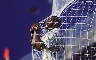 FUSSBALL : WM 1994 in den USA , Dallas , 21.06.94 NIGERIA - BULGARIEN  ( NGA - BGR )  3:0 Rasheed YEKINI / NGA FOTO:BONGARTS/Henri-Szwarc