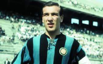 Antonio Valentín Angelillo, con la maglia dell'Inter, in una immagine tratta da Wikipedia.ANSA/WIKIPEDIA+++EDITORIAL USE ONLY - NO SALES+++