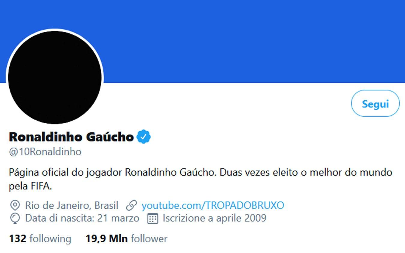 Ronaldinho twitter