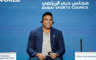 epa07258407 Real Valladolid president and Brazilian former player, Ronaldo Nazario speaks during the first day of the 13th edition of Dubai International Sports Conference in the Gulf emirate of Dubai, United Arab Emirates on 02 January 2019.  EPA/ALI HAIDER