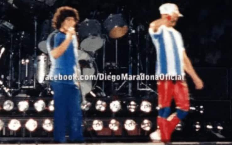 Maradona e Freddie Mercury a Velez per il concerto dei Queen