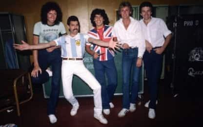 """Maradona e Freddie Mercury: un """"flash"""" da 40 anni"""