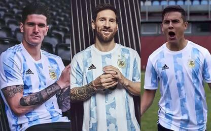 Messi, Dybala e De Paul svelano la nuova maglia