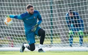 A.C. Milan, allenamento a Milanello per i rossoneri in vista del ritorno in Europa League