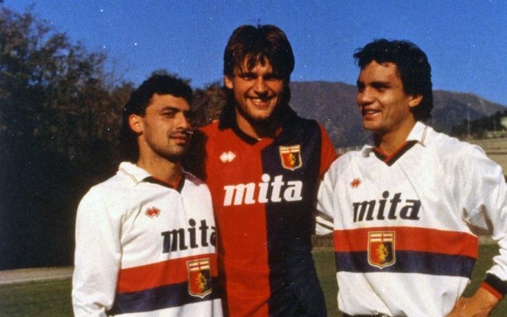 Branco, Aguilera e Skuhravy nel Genoa