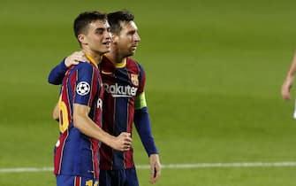 - Pedri celebra un gol con Messi.Champions League match played between Barcelona and Ferencvaros. In this picture, Pedri celebrates his goal with Messi.//MARCA_1750.12883/2010211447/Credit:ADELANTADO/MARCA/SIPA/2010211451