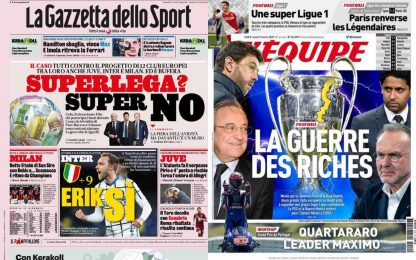 La Superlega scuote il calcio: la rassegna stampa