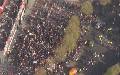 Arsenal, protesta dei tifosi contro la Superlega