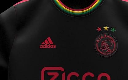 Ajax, la terza maglia ispirata a Bob Marley. FOTO