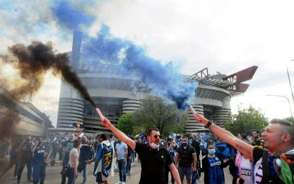Festa Inter, area per 3000 tifosi presso San Siro