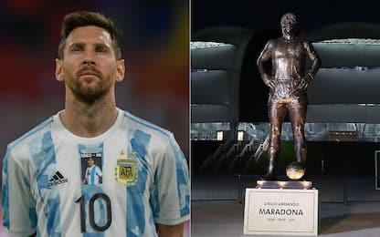 Maglia e statua, l'Argentina omaggia Maradona