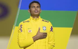 Thiago Silva of Brazil during the World Cup qualifiying round match to Qatar 2022, date 3, between Brazil and Venezuela played at Morumbi Stadium in Morumbi, Brazil on 14 September 2020. (Photo: DiaEsportivo/PRESSINPHOTO)