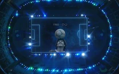 Argentina-Cile, l'omaggio a Maradona. VIDEO