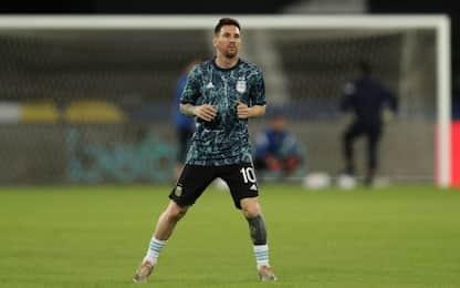 Argentina-Cile LIVE: Messi con Lautaro, c'è Vidal