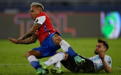 Argentina-Cile 1-1 LIVE: pareggia Vargas