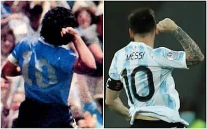 Messi, gol ed esultanza come Maradona. VIDEO