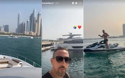 Ribery mostra il suo yacht: che lusso a Dubai!