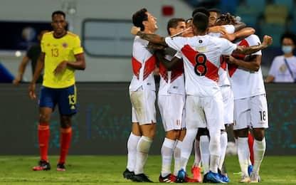 Il Perù batte la Colombia, pari Venezuela-Ecuador