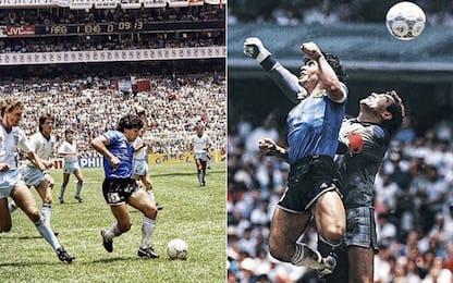 """""""Gol del siglo"""" e """"mano de Dios"""" compiono 35 anni"""