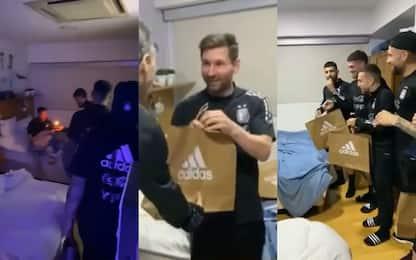 Messi fa 34 anni, che sorpresa dei compagni! VIDEO