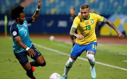 Ecuador, 1-1 col Brasile e quarti. Avanti il Perù
