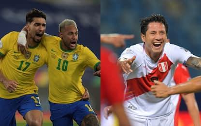 Brasile in semifinale, Lapadula trascina il Perù